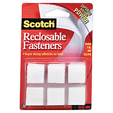 Scotch Recloseable Fasteners White 78 x