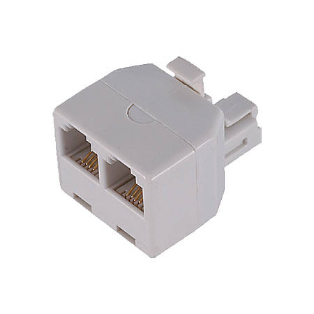 GE 76191 (White) Duplex In-Wall Adapter