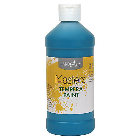 Handy Art 16 oz. Little Masters Tempera Paint - 16 fl oz - 1 Each - Turquoise