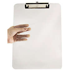 JAM Paper Plastic Clipboard with Metal