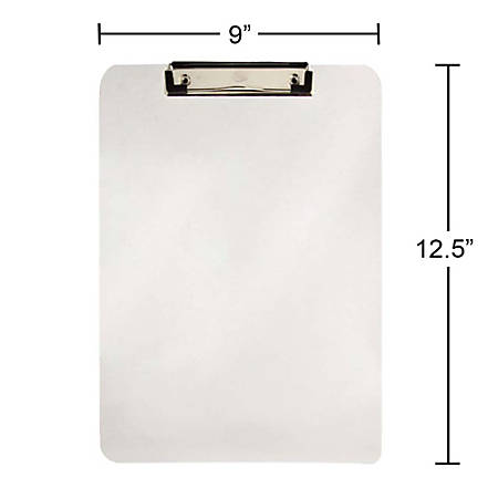 "JAM Paper® See-Through Clipboard, 9"" x 13"", Clear"