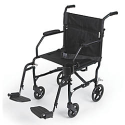 Medline Ultralight Transport Chair Black