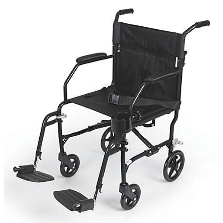 Medline Ultralight Transport Chair, Black