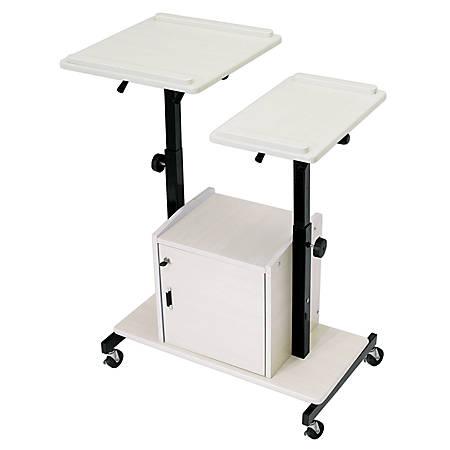 Oklahoma Sound® Deluxe Presentation Cart, Black/Ivory