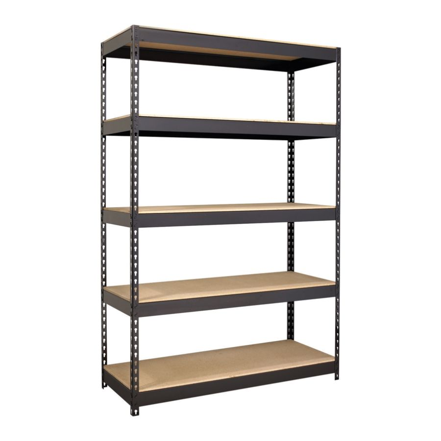 Hirsh Industries Iron Horse Riveted Steel Shelving 48 W Black By Office  Depot U0026 OfficeMax