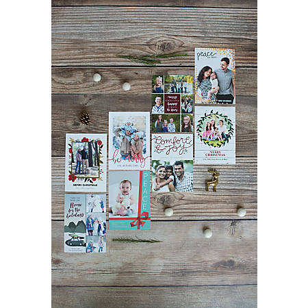 Custom Photo Greeting Card Office Depot