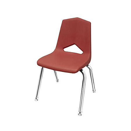 "Marco Group™ Apex™ Stacking Chairs, 31 1/2""H, Burgundy/Chrome, Pack Of 4"