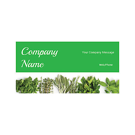 Magnetic Sign, Fresh Herbs, Horizontal