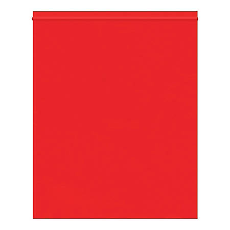 """Office Depot® Brand Reclosable Poly Bags, 10"""" x 12"""", Red, Case Of 1,000 Bags"""
