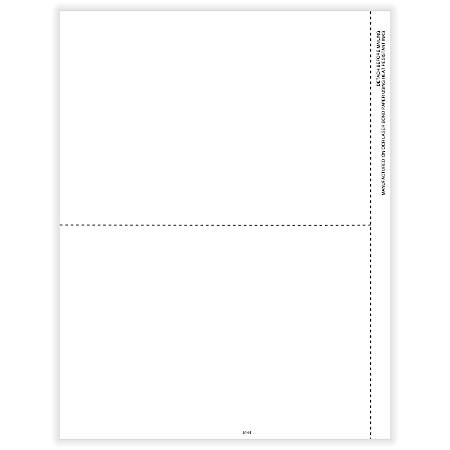 "ComplyRight™ 1099 Blank Tax Forms, Laser Cut, 2-Up, 8-1/2"" x 11"", Pack Of 50 Forms"