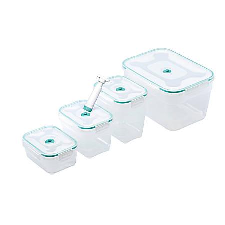Honey-Can-Do Vac 'n Save™ 9-Piece Rectangular Storage Set With Pump, Blue