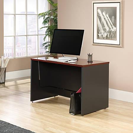 Sauder® Via Sit-Stand Desk, Classic Cherry