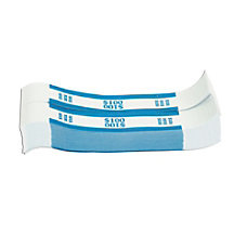Coin Tainer Currency Straps Blue 100