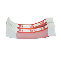Coin Tainer Currency Straps Red 500
