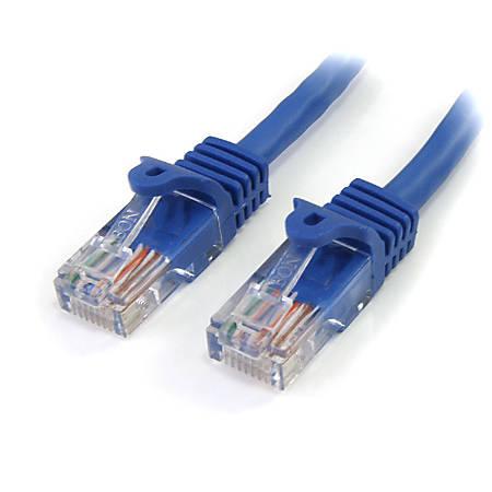 StarTech.com 75 ft Cat5e Blue Snagless RJ45 UTP Cat 5e Patch Cable - 75ft Patch Cord