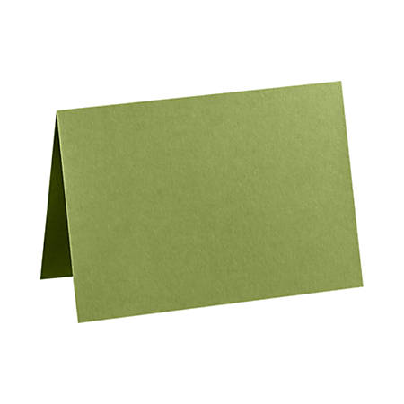 "LUX Folded Cards, A9, 5 1/2"" x 8 1/2"", Avocado Green, Pack Of 50"