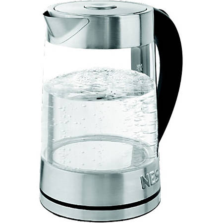 Nesco Glass Water Kettle 1.8 Liter - 1500 W - 1.90 quart - Gray