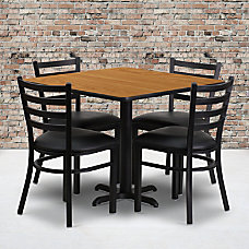 Flash Furniture Square Laminate Table Set