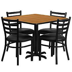 Flash Furniture Square Laminate Table Set