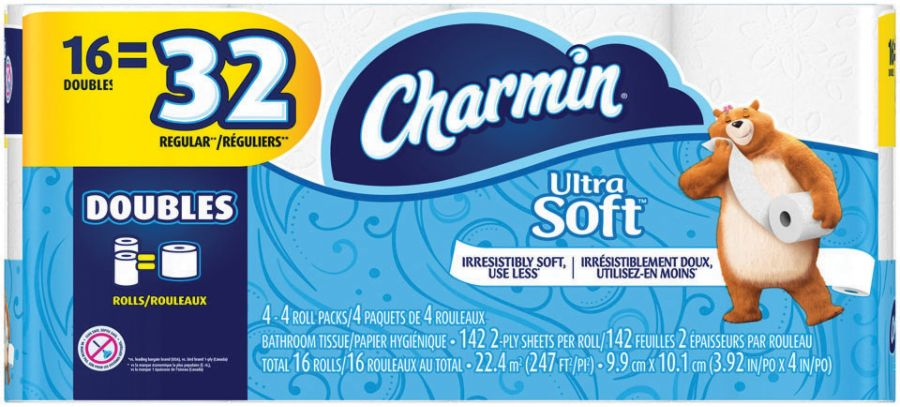 Charmin 2 Ply Bathroom Tissue Ultra Soft White 142 Sheets Per Roll