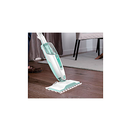 """Shark Steam Mop - 1050 W Motor - 12.68 fl oz Water Tank Capacity - 12"""" Cleaning Width - Hard Floor - 18 ft Cable Length - AC Supply - 120 V AC"""