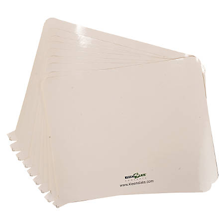 """KleenSlate® Rectangular Paddle Replacement Surfaces, 8"""" x 10"""", White, Pack Of 8"""