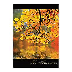 Sample Holiday Card Golden Reflection
