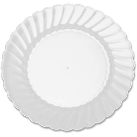 "Classicware WNA Comet Hvywt Plastic Clear Plates - 6"" Diameter Plate - Polystyrene, Plastic - Disposable - Clear - 12 Piece(s) / Pack"