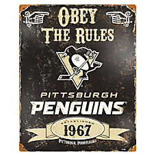 Party Animal Pittsburgh Penguins Embossed Metal