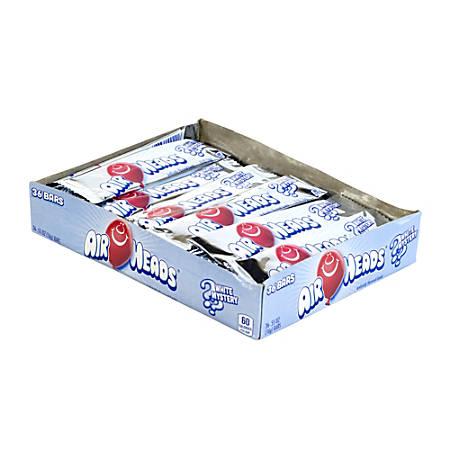 Airheads Bars, 0.55 Oz, White Mystery, Box Of 36