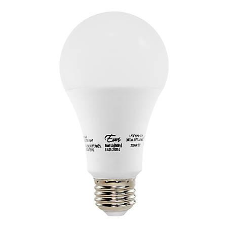 Euri A21 Non-Dimmable LED Light Bulbs, 1,521 Lumens, 14 Watt, 3000 Kelvin/Warm White, Pack Of 2 Bulbs