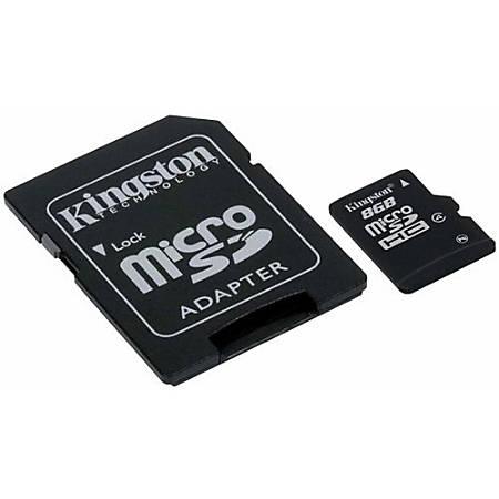 Kingston® 8GB MicroSD Flash Card Class 4