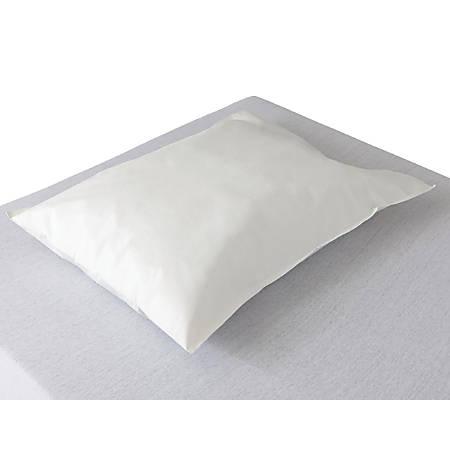 """Medline Ultracel Disposable Tissue/Polyethylene Pillowcases, 21"""" x 30"""", White, Case Of 100"""