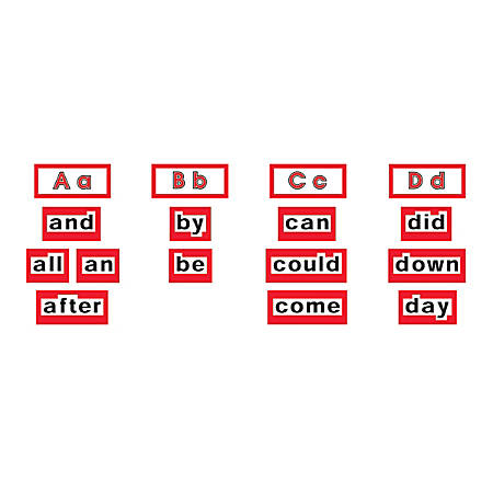"Scholastic Word Wall Word Cards — High Frequency Words, Level 1, 8 1/2"" x 11"", Pack Of 128 Words"