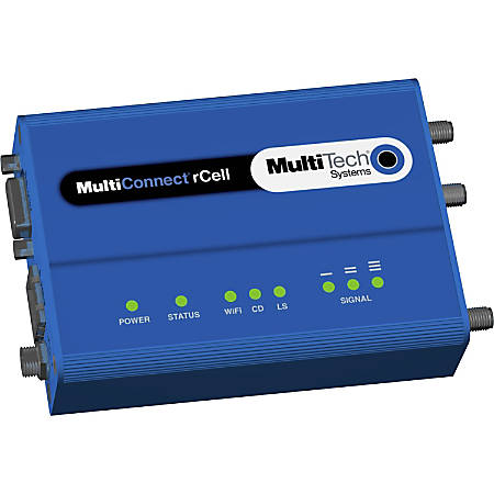 Multi-Tech MultiConnect rCell MTR-H5 Cellular Wireless Router - 3G - WCDMA 800, WCDMA 850, WCDMA 900, WCDMA 1700, WCDMA 1900, WCDMA 2100, GSM 850, GSM 900, GSM 1800, GSM 1900 - HSPA+, GPRS, EDGE - 1 x Network Port - Fast Ethernet - VPN Supported - Desktop
