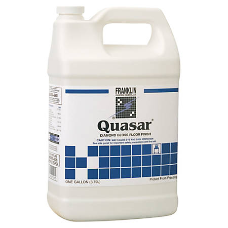 Franklin Cleaning Technology® Quasar® High Solids Floor Finish, 128 Oz, Pack Of 4 Bottles