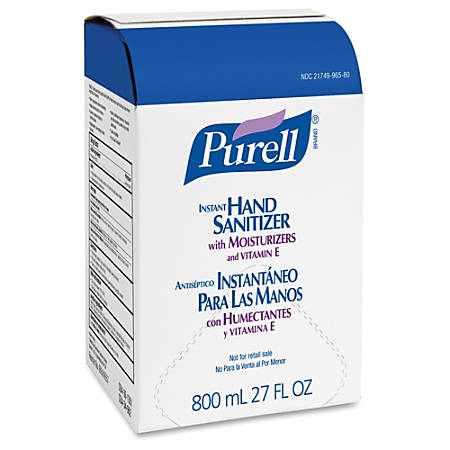 Purell® Instant Hand Sanitizer Refills, Unscented, 800 mL, Case Of 12