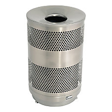 Suncast Commercial Outdoor Perforated Round Metal