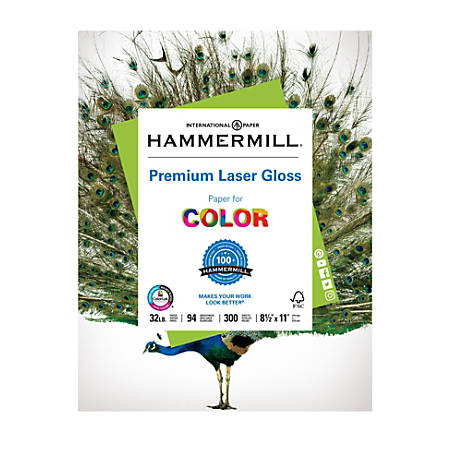 Hammermill color gloss laser paper 8 12 x 11 32 lb pack of 300 hammermill color gloss laser paper 8 accmission Gallery