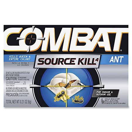 Dial Combat Bait Stations Ant Killer - Kills Ants - 0.21 oz - Silver, Black