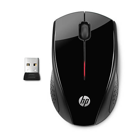 HP X3000 Wireless Optical Mouse, Black/Metallic Gray