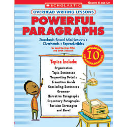 Scholastic Overhead Writing Lesson Paragraphs