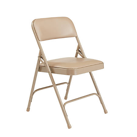 National Public Seating Series 1200 Folding Chairs, Beige, Set Of 4 Chairs