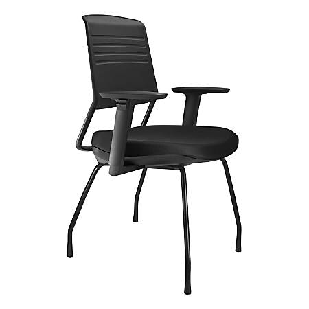 Koplus Switch Fabric Guest Chairs, Midnight Black, Set Of 2 Chairs