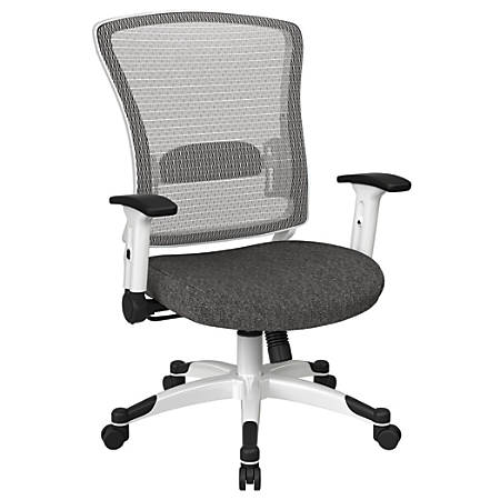 Office Star™ Space Seating Mesh Mid-Back Chair, Charcoal/White