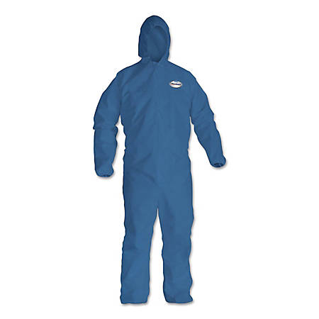 Kimberly-Clark® Professional KLEENGUARD A20 Microforce™ Particle Protection Coveralls, KS, 2X, Denim Blue, Pack Of 24 Coveralls