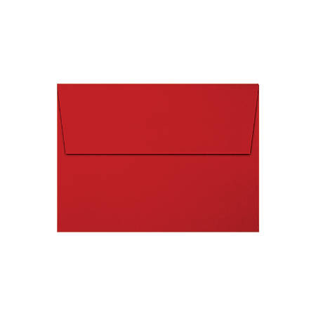 """LUX Invitation Envelopes With Moisture Closure, A6, 4 3/4"""" x 6 1/2"""", Holiday Red, Pack Of 50"""