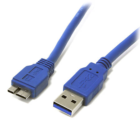 StarTech.com 3 ft SuperSpeed USB 3.0 Cable A to Micro B - Type A Male USB - Type B Male Micro USB - 3ft - Blue