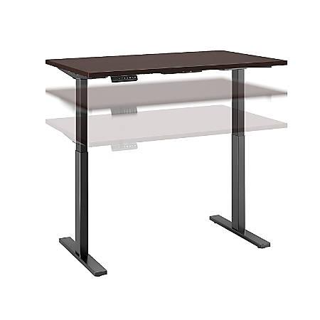 "Bush Business Furniture Move 60 Series 48""W x 24""D Height Adjustable Standing Desk, Mocha Cherry/Black Base, Premium Installation"