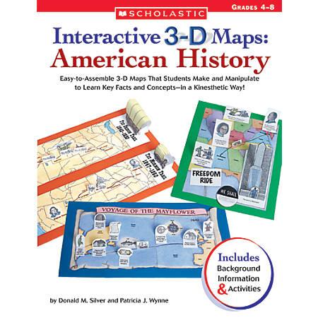 "Scholastic 3D Maps American History, 8 3/8"" x 10 7/8"""